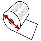 Kassenrollen aus Normalpapier - Info zum Durchmesser