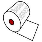 Kassenrollen aus Normalpapier - Info zum Kerndurchmesser