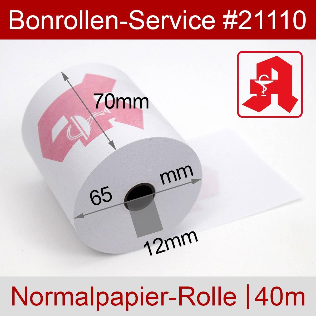 Apothekenrollen 70 / 65 / 12 weiß, Normalpapier - Detailansicht