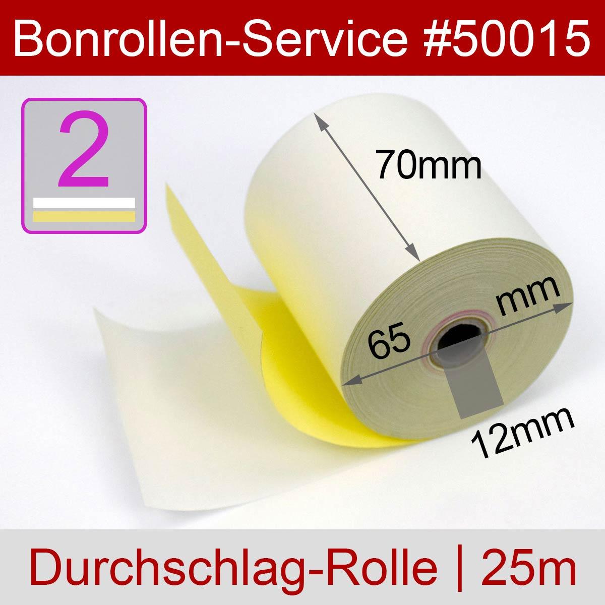 Durchschlagpapier-Rollen 70 / 25m / 12 weiß - Detailansicht