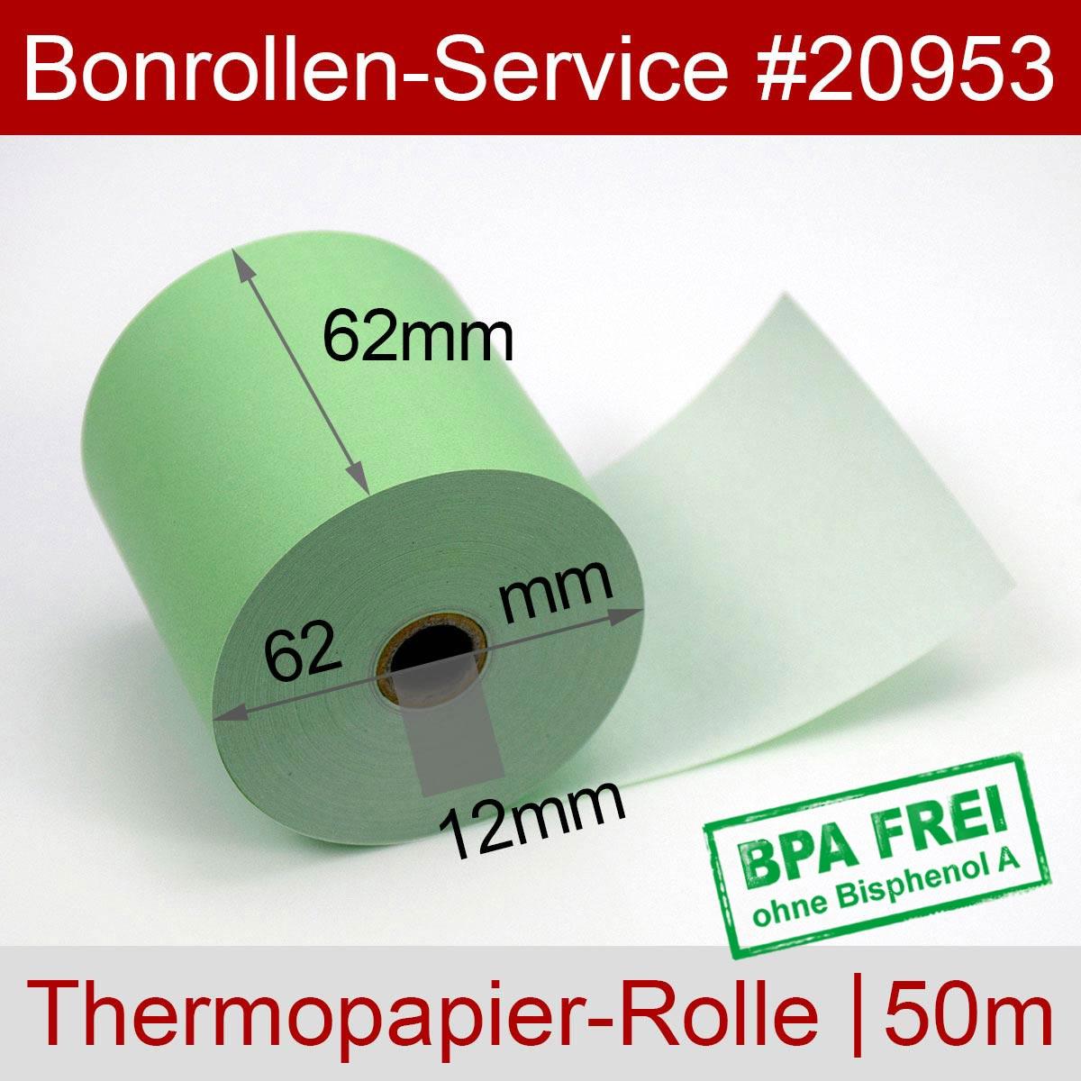 Thermorollen 62 / 50m / 12 grün - Detailansicht