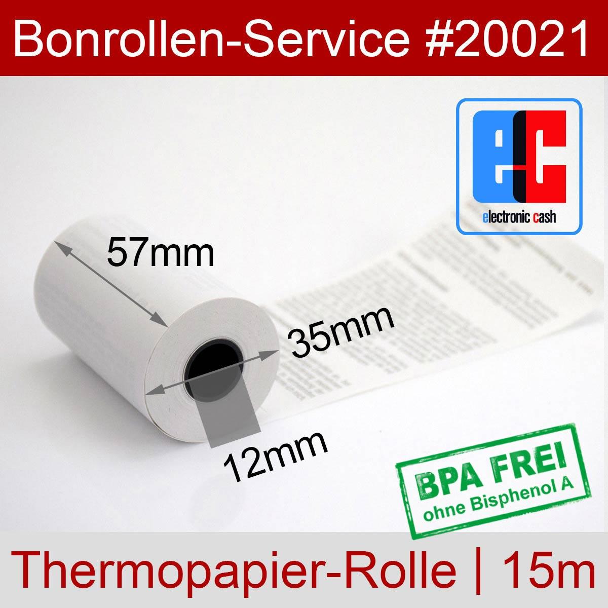 EC-Thermorollen BPA-frei 57 / 15m / 12 weiß mit SEPA-Text - Detailansicht
