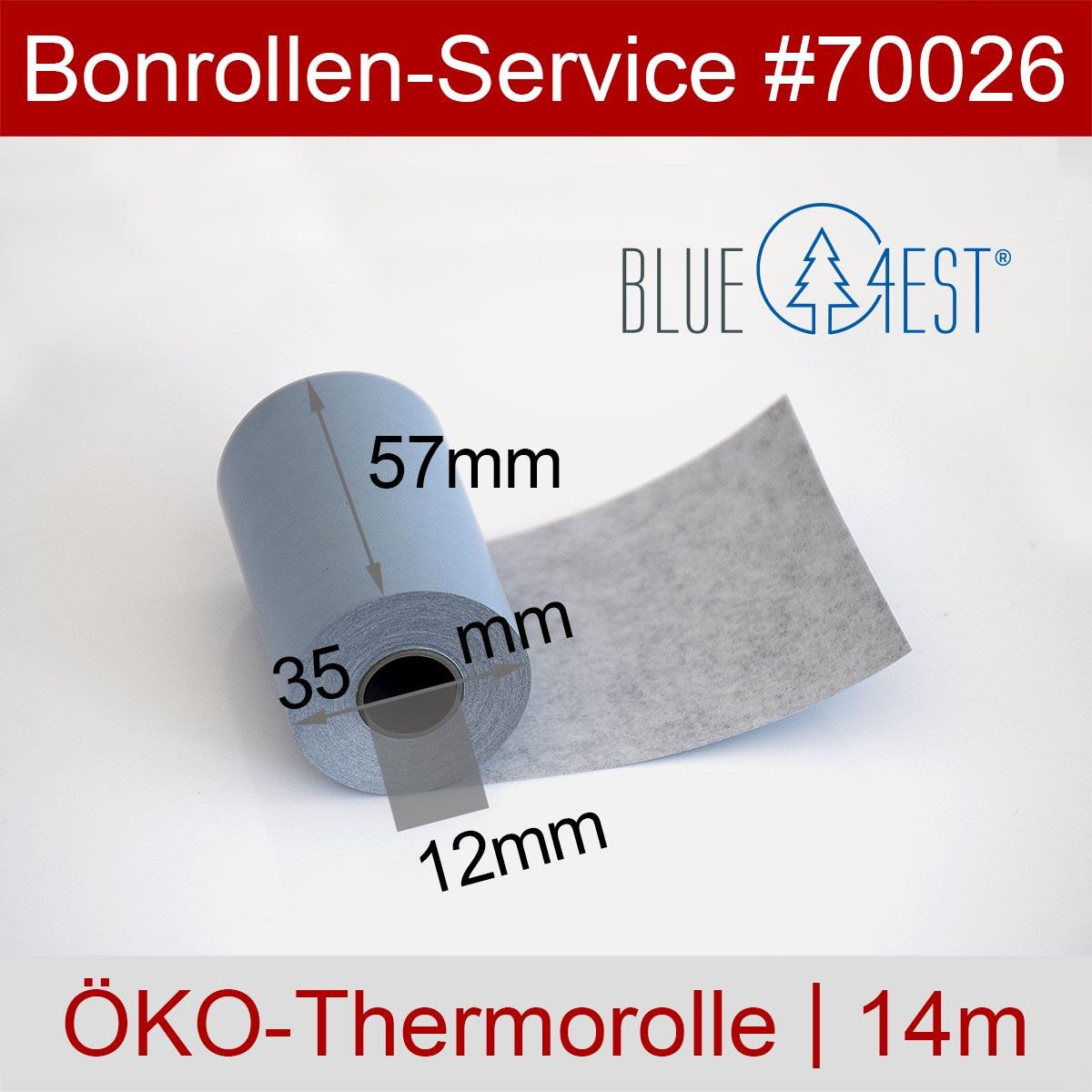 Thermorollen Blue4est 57 / 14m / 12 blau - Detailansicht