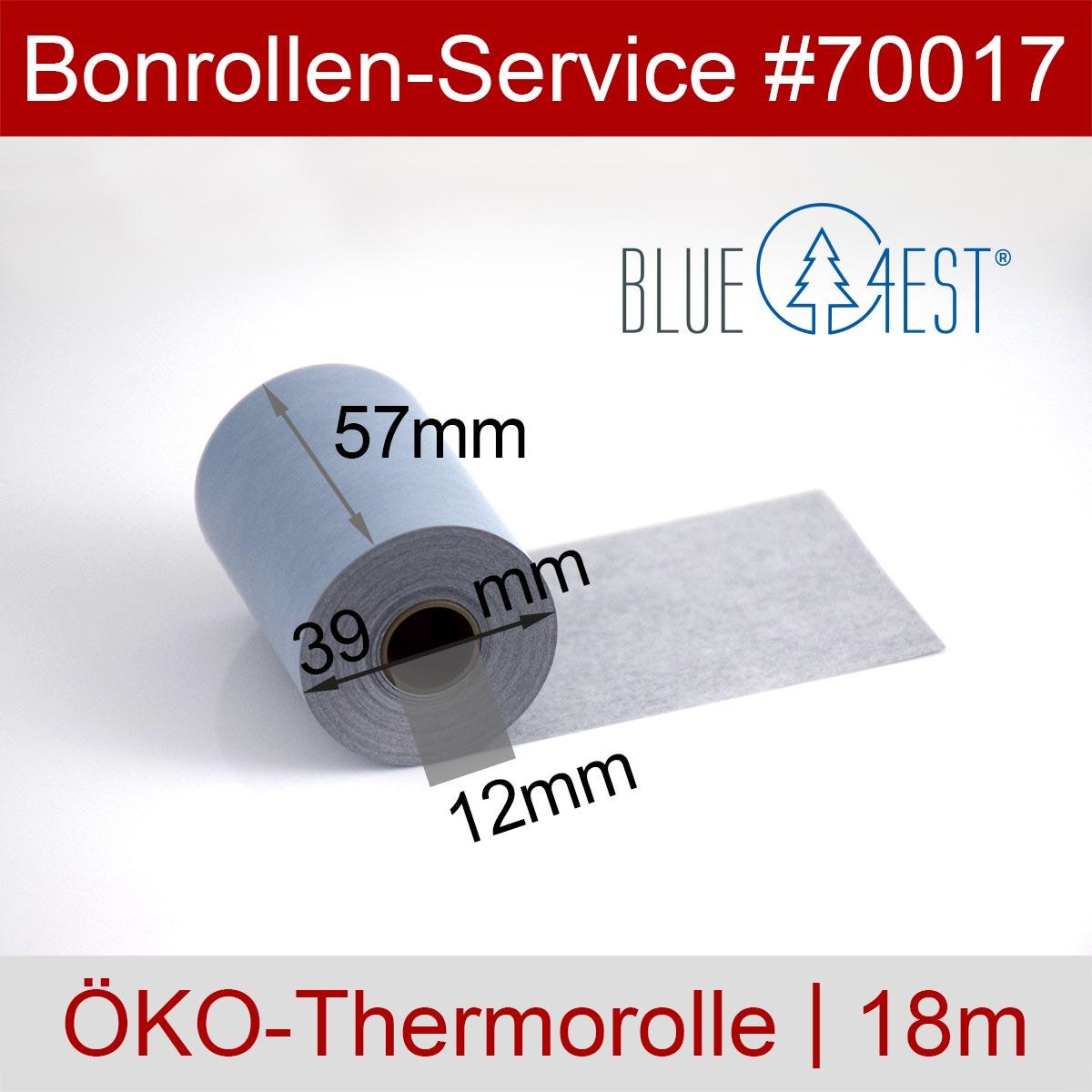 Thermorollen Blue4est 57 / 18m / 12 blau - Detailansicht