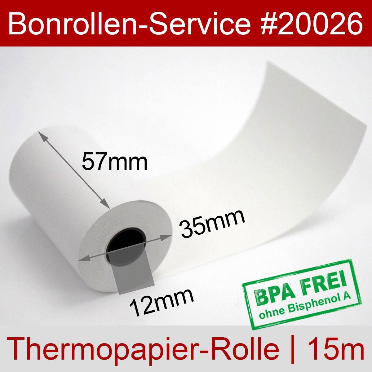 EC-Thermorollen BPA-frei 57 / 15m / 12 weiß, ohne Rückseitentext - Detailansicht