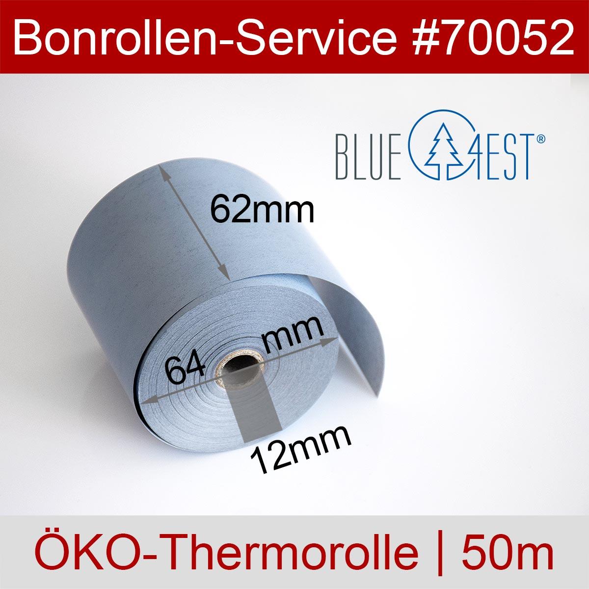 Thermorollen Blue4est 62 / 50m / 12 blau - Detailansicht