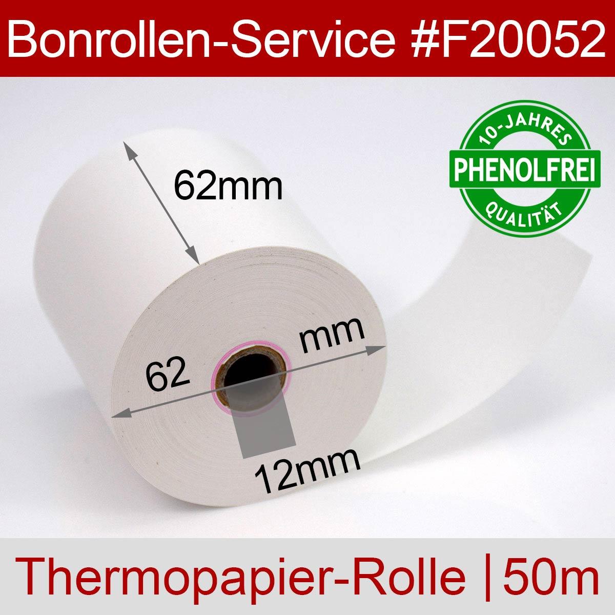 Thermorollen 62 / 50m / 12 weiß (10-Jahres-Qualität, phenolfrei) - Detailansicht