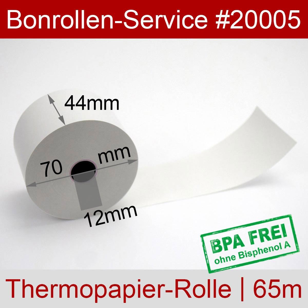 Thermorollen 44 / 70 / 12 BPA-frei, weiß - Detailansicht