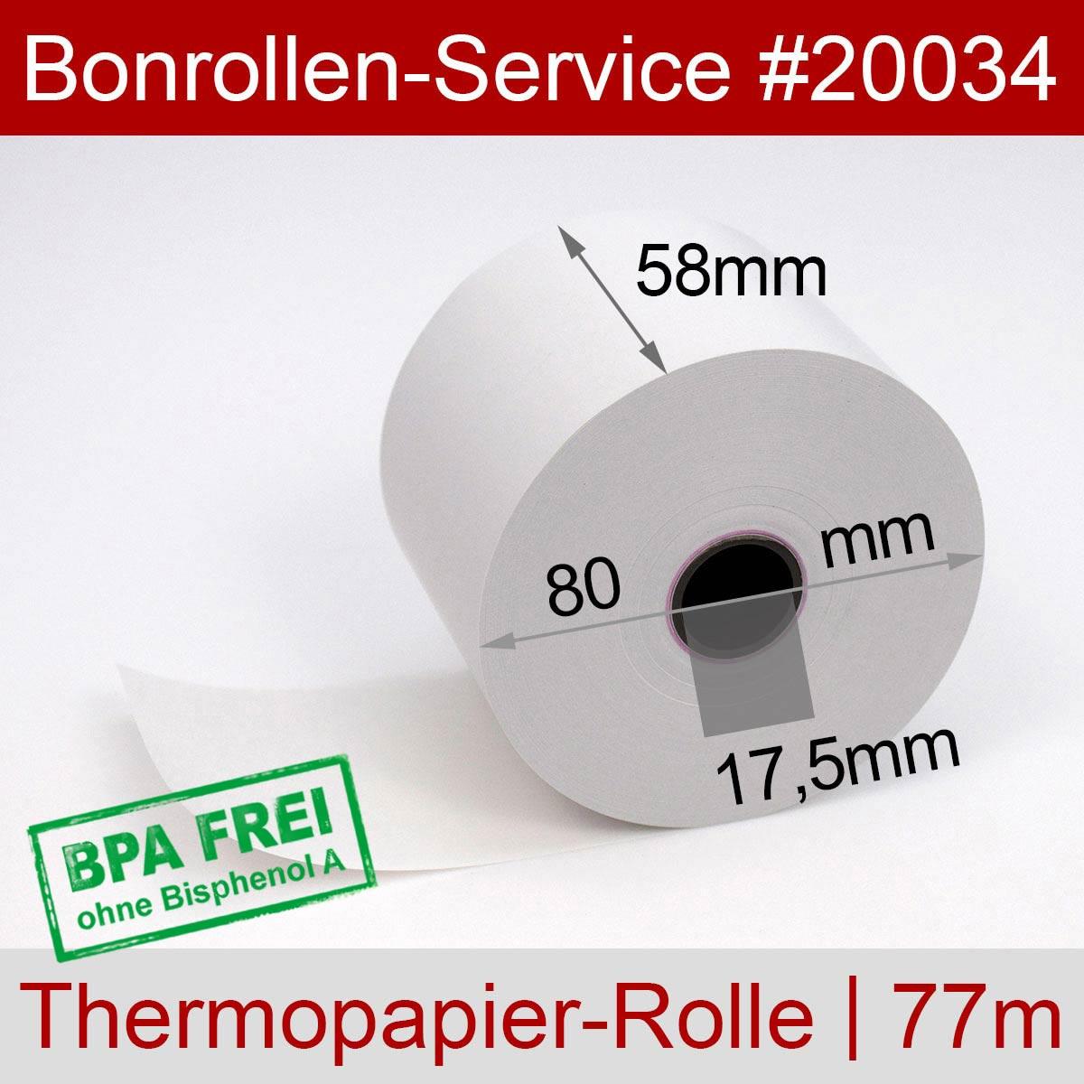Thermorollen 58 / 80 / 17,5 weiß - Detailansicht