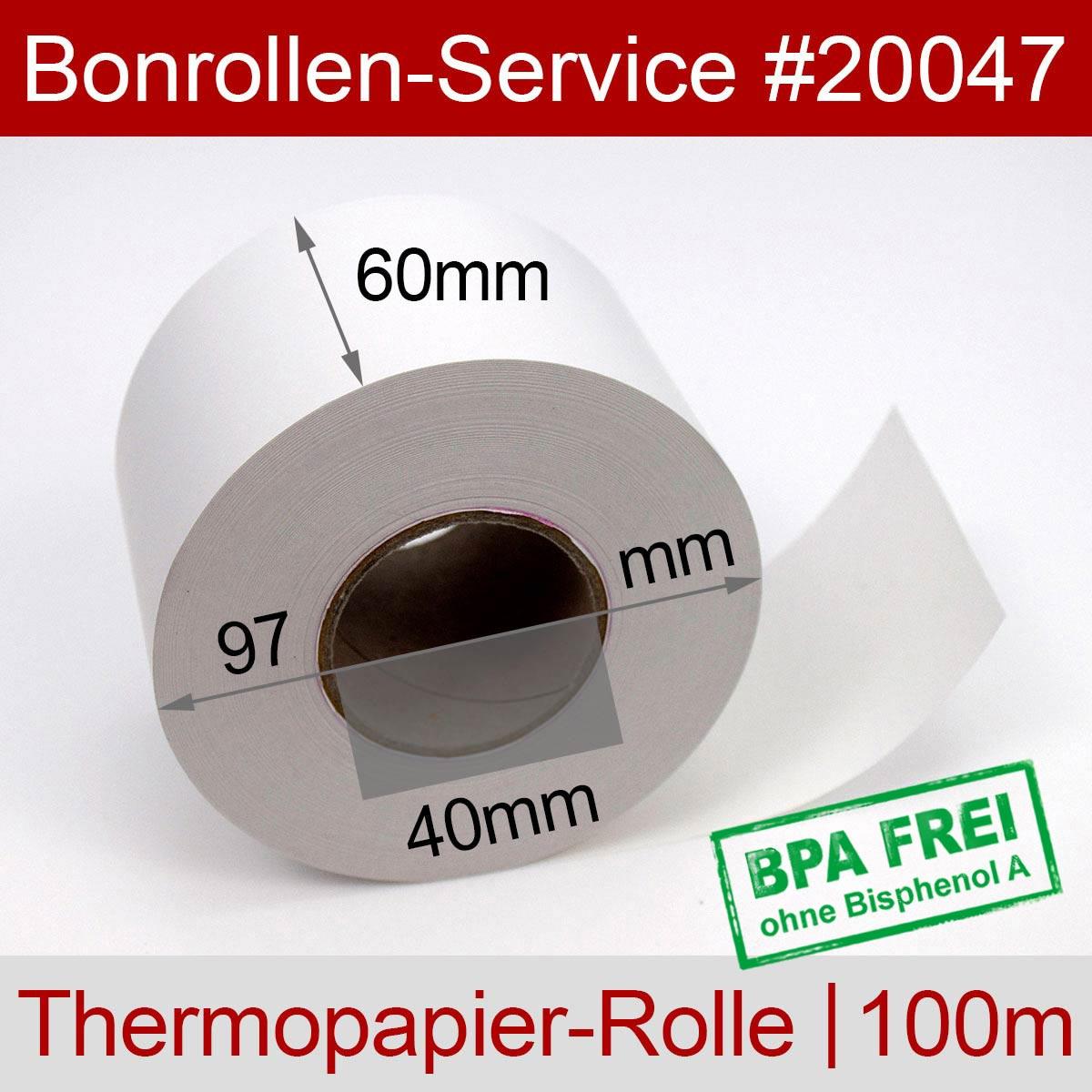 Thermorollen 60 / 100m / 40 weiß - Detailansicht