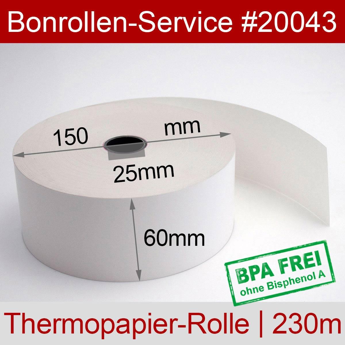 Automatenrollen BPA-frei 60 / 150 / 25 weiß - Detailansicht
