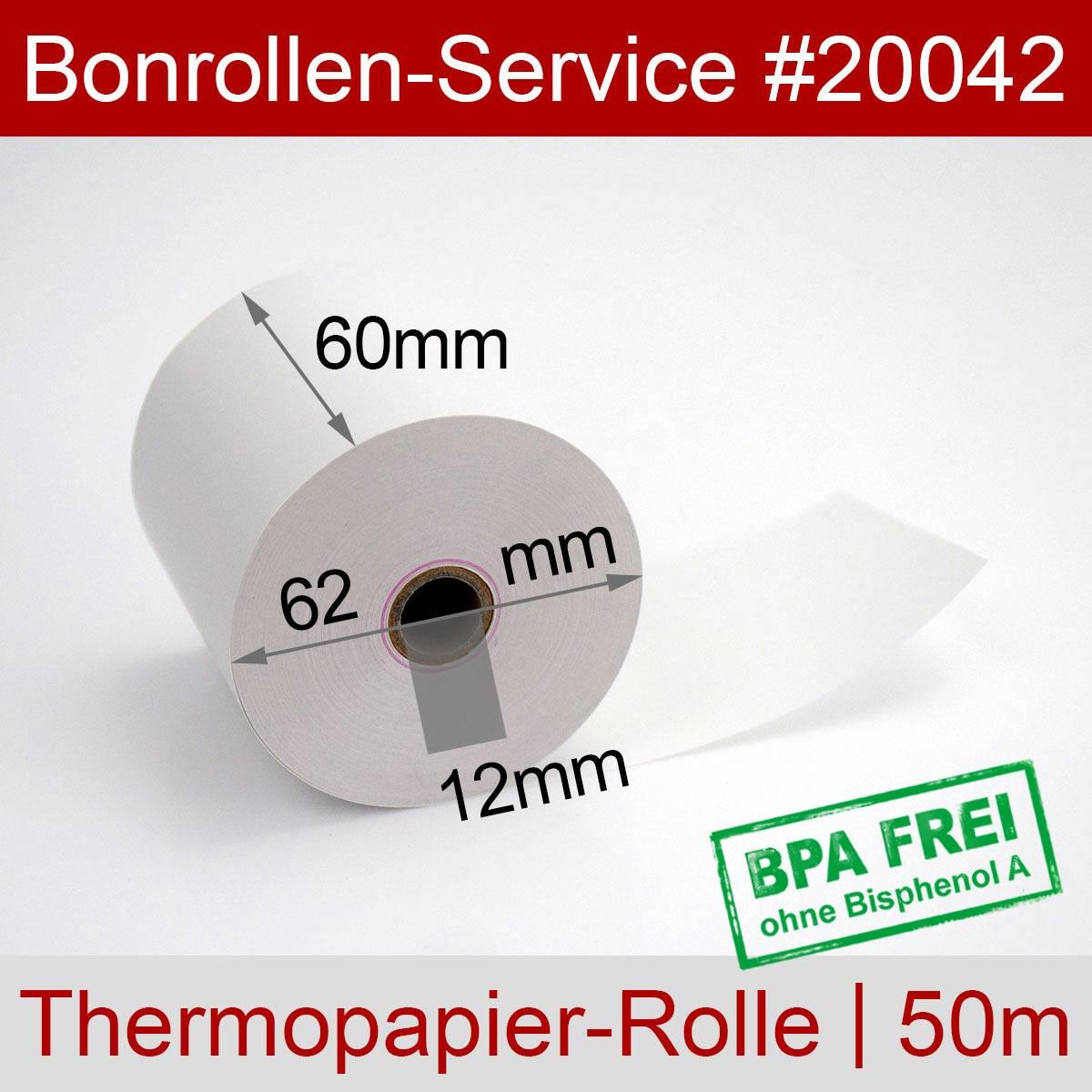 Thermorollen 60 / 50m / 12 weiß - Detailansicht