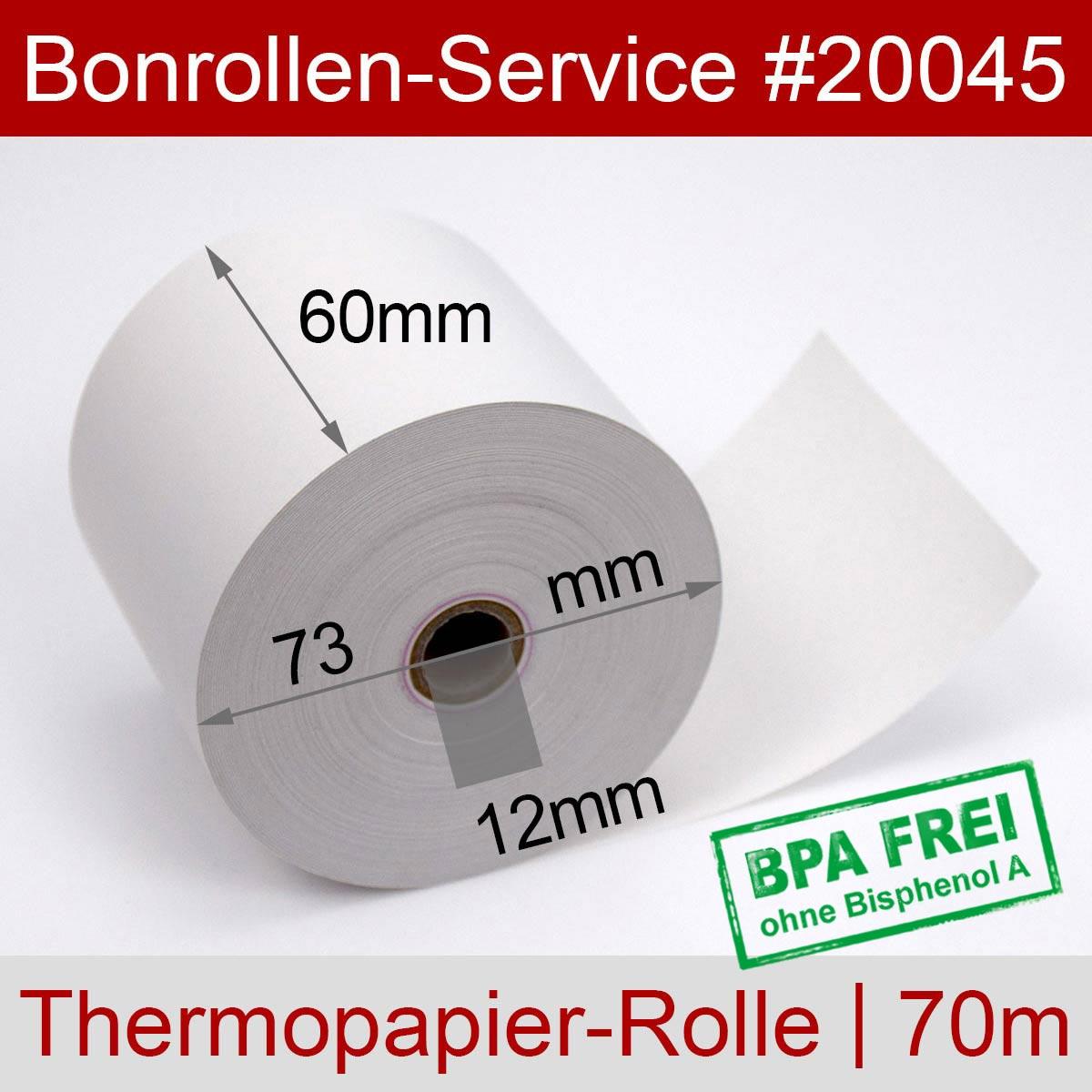 Thermorollen BPA-frei 60 / 70m / 12 weiß - Detailansicht