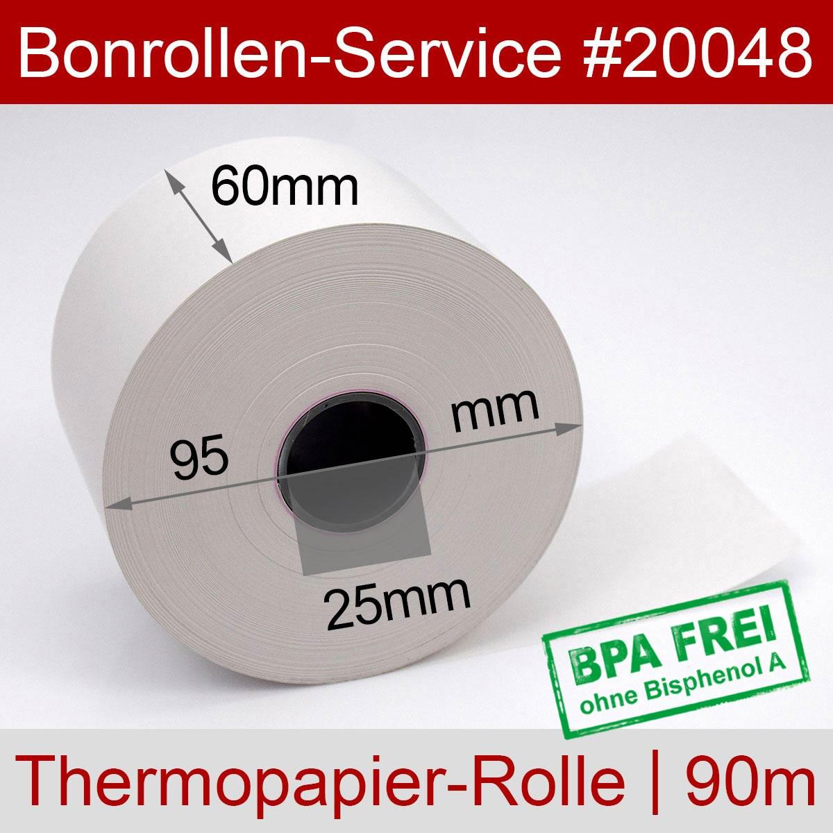 Thermorollen BPA-frei 60 / 95 / 25 weiß - Detailansicht