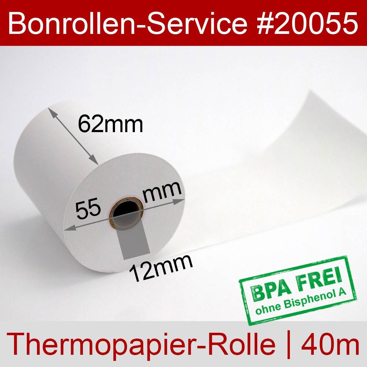Thermorollen 62 / 40m / 12 weiß - Detailansicht