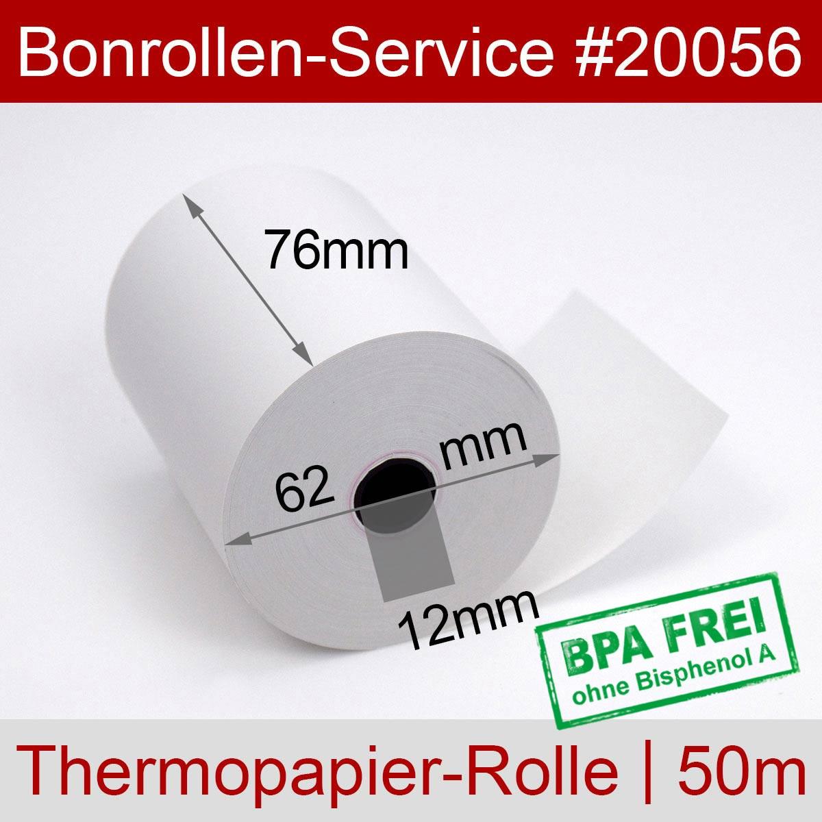 Thermorollen 76 / 50m / 12 weiß - Detailansicht