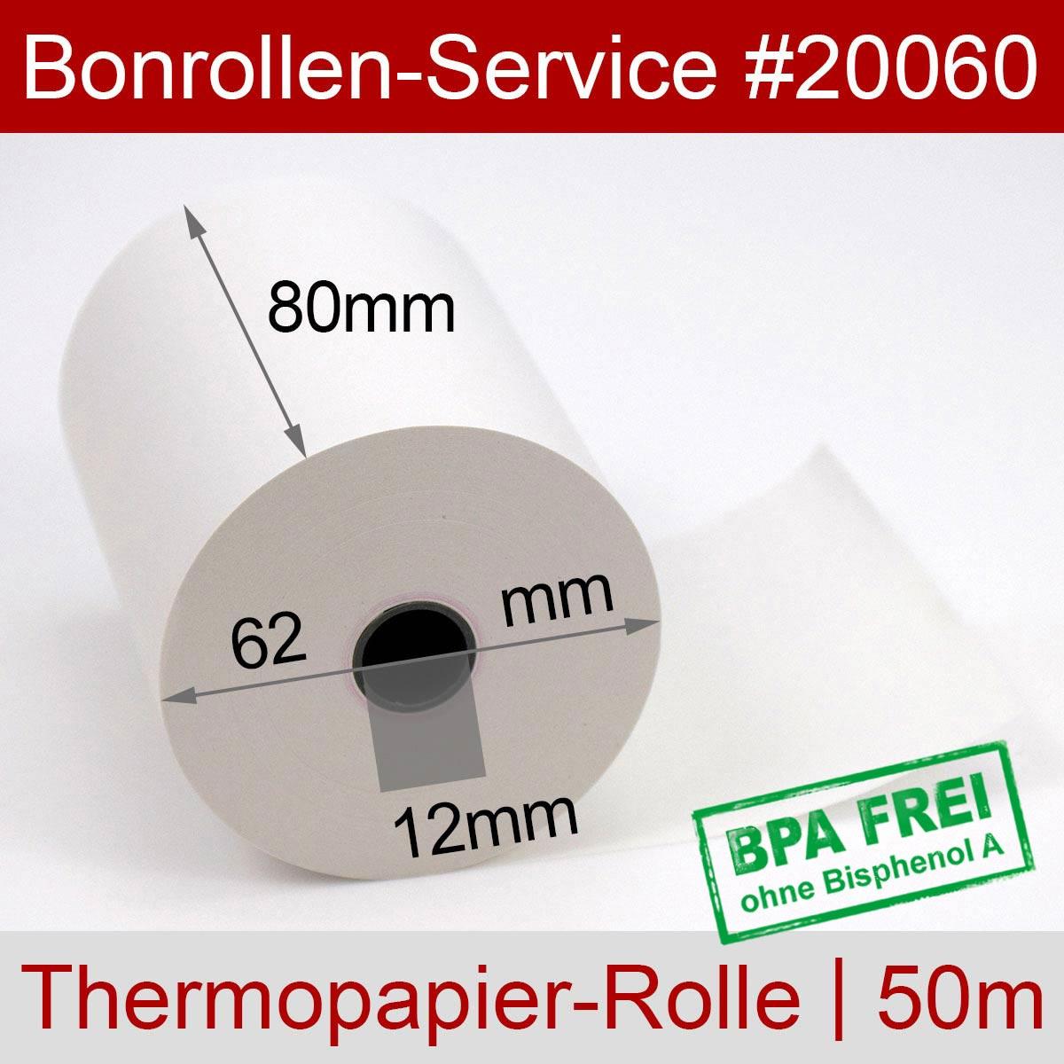 Thermorollen 80 / 50m / 12 weiß - Detailansicht