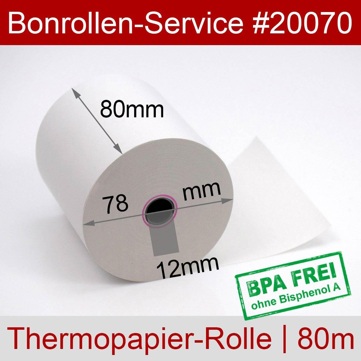 Thermorollen BPA-frei 80 / 80m / 12 weiß - Detailansicht