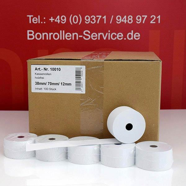 Produktfoto - Bonrollen / Kassenrollen - 38 / 70 / 12 für TEC MA-134