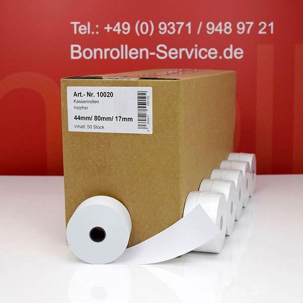 Produktfoto - Bonrollen / Kassenrollen - 44 / 80 / 17,5 für