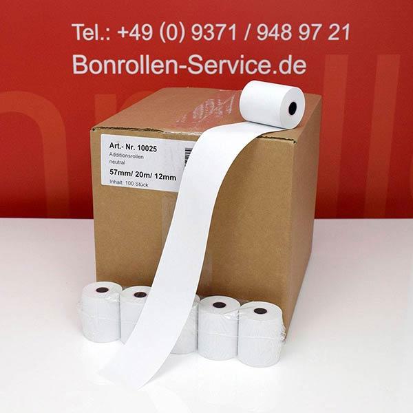 Produktfoto - Bonrollen / Kassenrollen - 57 / 20m / 12 für Ohaus SF40A
