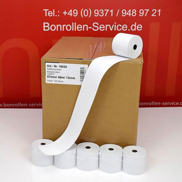 Produktfoto - Bonrollen / Kassenrollen - 57 / 40m / 12 für Citizen IDP-3110