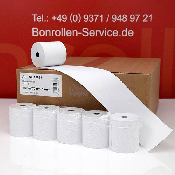 Produktfoto - Bonrollen / Kassenrollen - 76 / 70 / 12 für Mons CR 715