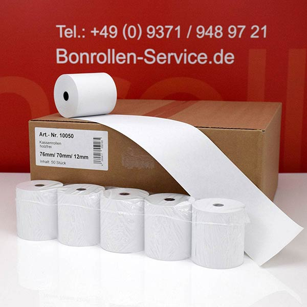 Produktfoto - Bonrollen / Kassenrollen - 76 / 70 / 12 für Bixolon SRP-280