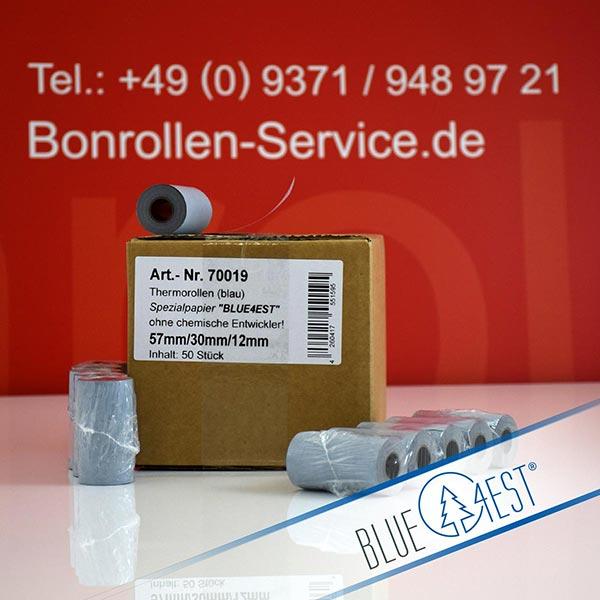 Produktfoto - Öko-Thermorollen, Blue4est® 57 / 10m / 12 für Porti SC30