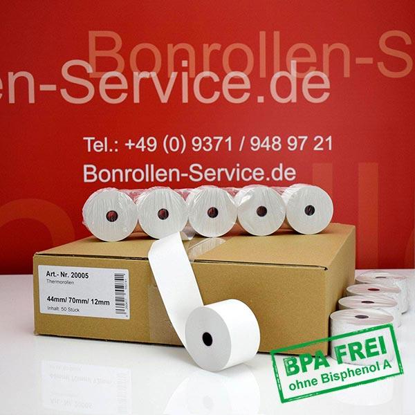 Produktfoto - Thermorollen / Kassenrollen, BPA-frei 44 / 70 / 12 für SAM4S ER-420M