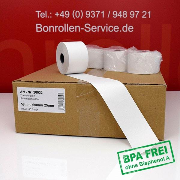 Produktfoto - Thermorollen / Automatenrollen, BPA-frei 58 / 90 / 25 für Bixolon SMP650