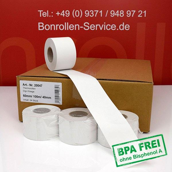 Produktfoto - Thermorollen / Waagenrollen, BPA-frei 60 / 100m / 40 für Digi DPS-5000