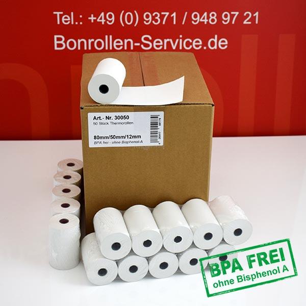 Produktfoto - Thermorollen / Kassenrollen, BPA-frei 80 / 50 / 12 für Bixolon SPP-R310IKL