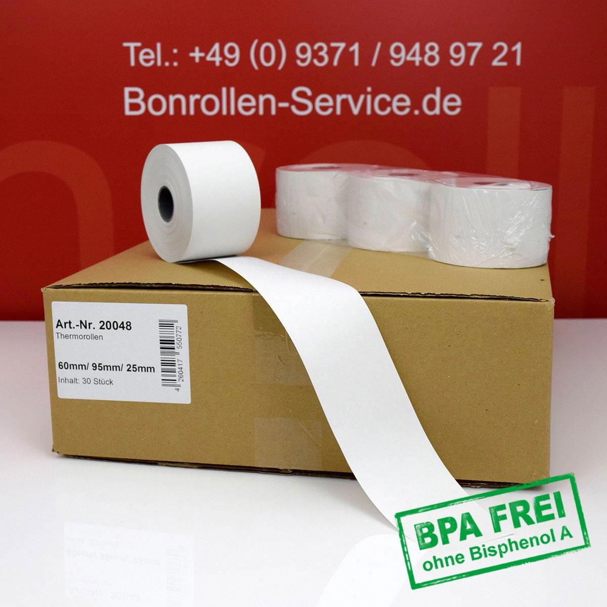 Thermorollen ohne BPA 60 / 95 / 25 weiß