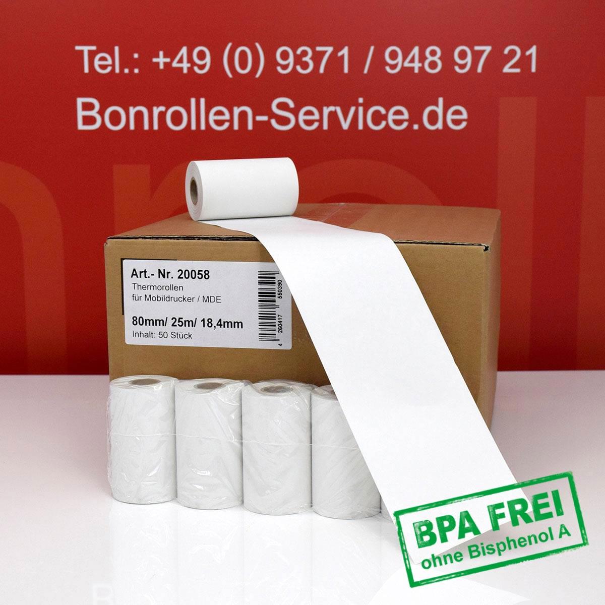 Thermorollen ohne BPA 80 / 25m / 18,4 weiß