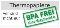 Kundeninformation über unsere Initiative 2018/2019 zur generellen Einführung von Thermorollen ohne Bisphenol A (BPA-frei)