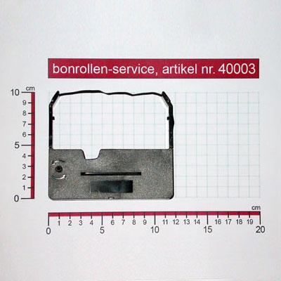 Detailansicht mit Rollenmaßen - Farbband-Kassetten ERC 03, Gruppe 637 - violett für Omron RS 3010