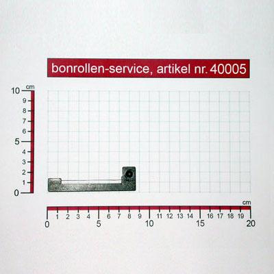 Detailansicht mit Rollenmaßen - Farbband-Kassetten ERC 18 - violett für Aster GA 919