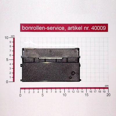 Detailansicht mit Rollenmaßen - Farbband-Kassetten ERC 21, Gruppe 652 - schwarz für Schultes HS 2008