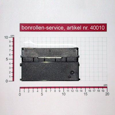 Detailansicht mit Rollenmaßen - Farbband-Kassetten ERC 21, Gruppe 652 - violett für Schultes HS 2008