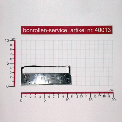 Detailansicht mit Rollenmaßen - Farbband-Kassetten ERC 27, Gruppe 653 - violett für NCR 9995-5201