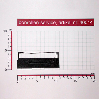 Detailansicht mit Rollenmaßen - Farbband-Kassetten ERC 27, Gruppe 653 - schwarz für NCR 9995-5200