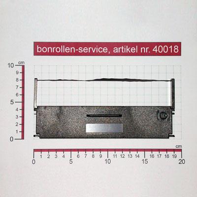 Detailansicht mit Rollenmaßen - Farbband-Kassetten ERC 31 - violett für Epson TM-H5000II (012)