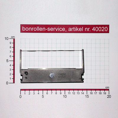 Skizze mit Rollenmaßen  - Farbband-Kassetten ERC 32 - violett für Epson M-147 A