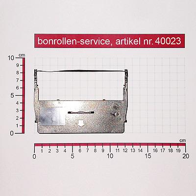 Detailansicht mit Rollenmaßen - Farbband-Kassetten ERC 37 - violett für
