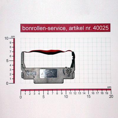 Detailansicht mit Rollenmaßen - Farbband-Kassetten ERC 30/34/38, Gruppe 655 - schwarz/rot für Epson TM-U 220 PD