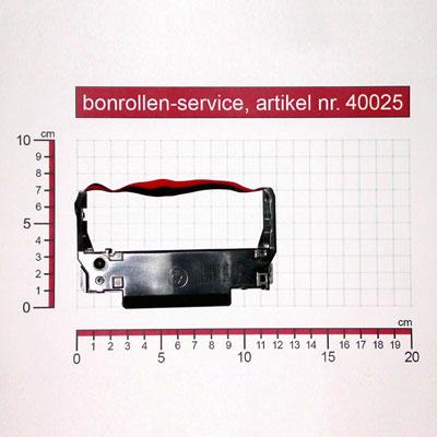 Skizze mit Rollenmaßen  - Farbband-Kassetten ERC 30/34/38, Gruppe 655 - schwarz/rot für Samsung SRP 275