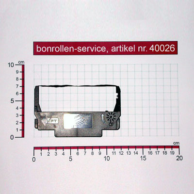 Detailansicht mit Rollenmaßen - Farbband-Kassetten ERC 30/34/38, Gruppe 655 - violett für Epson M-188 B