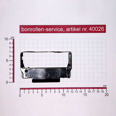 Skizze mit Rollenmaßen  - Farbband-Kassetten ERC 30/34/38, Gruppe 655 - violett für Samsung SRP 275