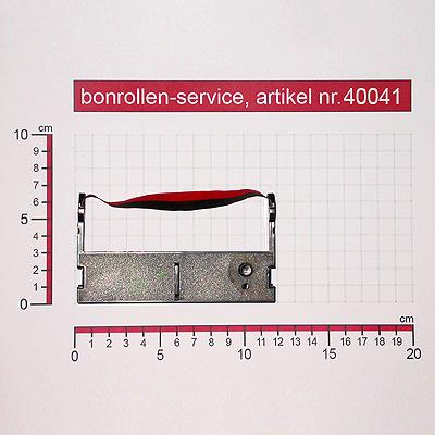 Detailansicht mit Rollenmaßen - Farbband-Kassetten ERC 39 - schwarz / rot für Citizen CD-S500